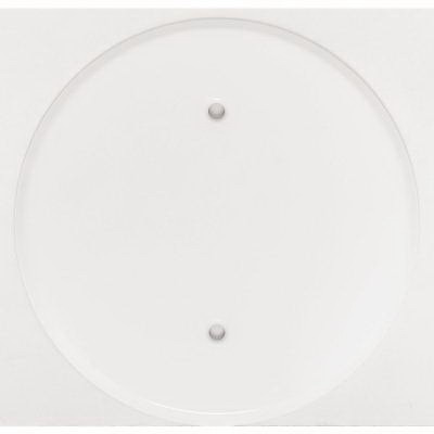 Mulberry 40431 Flat Gang Ceiling Outlet Blankup Canopy; Painted Steel, For 3-1/4 Inch Round Box