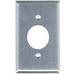 Mulberry 97091 Standard Size 1-Gang Single Receptacle Plate; Screw Mount, 430 Stainless Steel