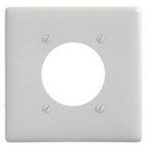 Mulberry 86222 Standard Size 2-Gang Single Receptacle Plate; Stainless Steel, White
