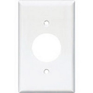 Mulberry 86091 Standard Size 1-Gang Single Receptacle Plate; Stainless Steel, White
