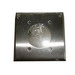 Mulberry 97227 Standard Size 2-Gang Single Receptacle Plate; 430 Stainless Steel