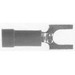 Selecta Switch ST-14A-BG Standard Tongue Spade Fork Terminal; 16-14 AWG, #8 Stud, Vinyl, Blue, 100/Bag