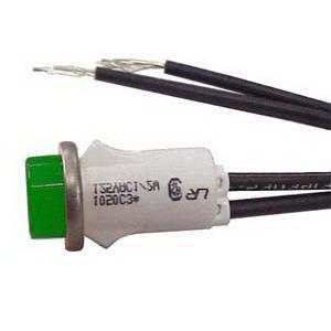 Selecta Switch SL53413-6-BG Indicator Light; Raised/Transparent Lens, 120 Volt, Neon, Green