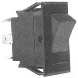"Image of ""Selecta Switch SS1104-BG Appliance Rocker Switch 2-Pole, DPST, 125/250 Volt AC, 20/20 Amp, Black Base, Black Rocker, Black Bezel,"""