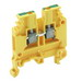 ABB 016511316 1SNA165113R1600 entrelec® M4/6P Ground Terminal Block; 6 mm Space, Screw Clamp Connection, Green/Yellow