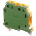 ABB 016511510 1SNA165115R1000 M10/10.P Ground Terminal Block with Rail Contact; 10 mm Space, Screw Clamp Connection, Green/Yellow
