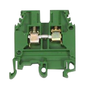 ABB 010500127 1SNA105001R2700 Standard M4/6 Feed-Through Terminal Block; 600 Volt, 32 Amp, 6 mm Space, Screw Clamp Connection, Green