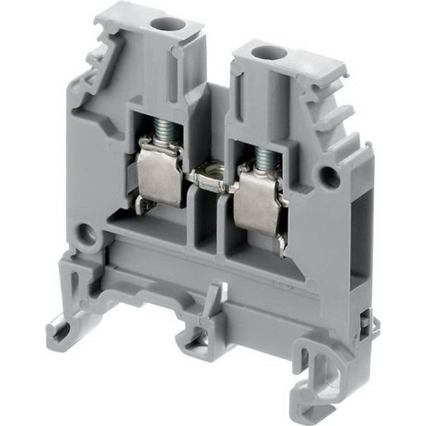 ABB 010503215 1SNA105032R1500 Standard M4/6 Feed-Through Terminal Block; 600 Volt, 32 Amp, 6 mm Space, Screw Clamp Connection, Red