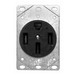 Midwest BR54U Straight Blade Single Power Receptacle; Bracket Base Mount, 125/250 Volt, 50 Amp, 3-Pole, 4-Wire, NEMA 14-50R