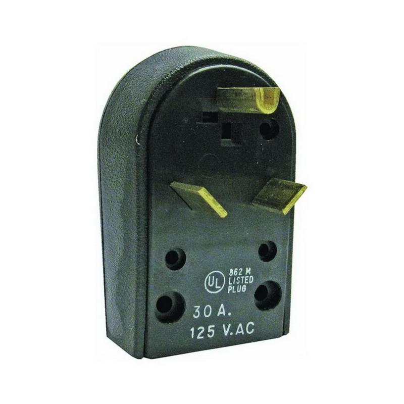 Midwest C32U Angle Plug; 30 Amp, 125 Volt, NEMA ANSI C73 13-1972 R-32-U