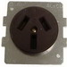 Midwest BR53 Single Power Receptacle; Bracket Base Mount, 125/250 Volt, 50 Amp, NEMA 10-50R