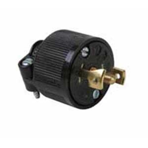 Pass & Seymour ML3113 Midget Locking Plug; 15 Amp, 125/250 Volt AC, 3-Pole, 3-Wire, NEMA ML3-15P, Black