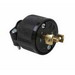 Pass & Seymour ML3113 Midget Locking Plug; 15 Amp, 125/250 Volt AC, 3-Pole, 3-Wire, NEMA ML3-15P, Black