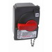 Pass & Seymour PS30-SSAX Non-Fusible Safety Switch with Auxiliary Contact; 600 Volt AC, 30 Amp, 3, Grip Handle, Gray/Red