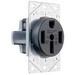 Pass & Seymour 3894 Specification Grade Straight Blade Power Receptacle; Flush Mount, 125/250 Volt AC, 50 Amp, 3-Pole, 4-Wire, NEMA 14-50, Black