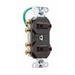 Pass & Seymour 693-WG 3-Way Double Combination Switch; 120/277 Volt AC, 15 Amp, 2-Pole, Grounding, White