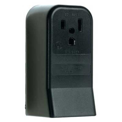 Pass & Seymour 3852 Specification Grade Straight Blade Power Receptacle; Surface Mount, 250 Volt, 50 Amp, 2-Pole, 3-Wire, NEMA 6-50R, Black