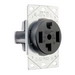 Pass & Seymour 3864 Specification Grade Straight Blade Power Receptacle; Flush Mount, 125/250 Volt AC, 30 Amp, 3-Pole, 4-Wire, NEMA 14-30R, Black