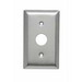 Pass & Seymour SS730 Standard Size 1-Gang Communication Wallplate; Strap Mount, 302 Stainless Steel
