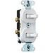 Pass & Seymour 696-WG 3-Way Combination Switch; 120/277 Volt AC, 15 Amp, 1-Pole, Grounding, White