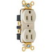 Pass & Seymour PS5362-I Specification Grade Duplex Receptacle; Wall Mount, 125 Volt AC, 20 Amp, 2-Pole, 3-Wire, NEMA 5-20R, Ivory