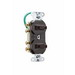 Pass & Seymour 693-IG 3-Way Double Combination Switch; 120/277 Volt AC, 15 Amp, 2-Pole, Grounding, Ivory