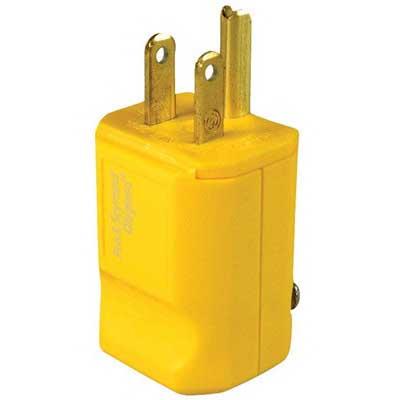 Pass & Seymour PS5965-Y MaxGrip M3 Hospital Grade Straight Blade Plug; 15 Amp, 125 Volt, 2-Pole, 3-Wire, NEMA 5-15P, Yellow