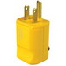 Pass & Seymour PS5965-Y MaxGrip M3 Hospital Grade Straight Blade Plug; 15 Amp, 125 Volt, 2-Pole, 3-Wire, NEMA 5-15P, Yellow