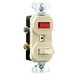 Pass & Seymour 692-I Combination Switch with Single Pilot Light; 120/125, 250 Volt AC, 15 Amp, 1-Pole, Non-Grounding, Ivory