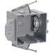 Pass & Seymour P2-42-RRD 2-Gang Range and Dryer Box; Thermoplastic, Gray