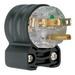 Pass & Seymour PS5266-HGAN Hospital Grade Extra-Hard Use Straight Blade Angle Plug; 15 Amp, 125 Volt, 2-Pole, 3-Wire, NEMA 5-15P, Black/Clear
