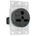 Pass & Seymour 3801 Specification Grade Straight Blade Power Outlet Receptacle; Flush Mount, 250 Volt AC, 30 Amp, 2-Pole, 3-Wire, NEMA 6-30R, Black