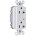Pass & Seymour 2095-W Auto Ground Decorator Specification Grade GFCI Duplex Receptacle; 125 Volt, 20 Amp, 2-Pole, NEMA 5-20R, White