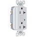 Pass & Seymour 2095-W Auto Ground Decorator Specification Grade GFCI Duplex Receptacle; 125 Volt, 20 Amp, 2-Pole, NEMA 5-20R, White