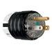 Pass & Seymour PS5266-XHG Hospital Grade Extra-Hard Use Straight Blade Plug; 15 Amp, 125 Volt, 2-Pole, 3-Wire, NEMA 5-15P, Black/Clear