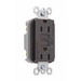 Pass & Seymour 1595 tradeMaster® Specification Grade Duplex Outlet GFCI Receptacle; Wallplate Mount, 125 Volt AC, 15 Amp, 2-Pole, NEMA 5-15R, Brown