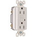 Pass & Seymour 1595-W tradeMaster® Specification Grade Duplex Outlet GFCI Receptacle; Wallplate Mount, 125 Volt AC, 15 Amp, 2-Pole, NEMA 5-15R, White