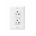 Pass & Seymour 2095-SW Auto Ground Decorator Specification Grade GFCI Duplex Receptacle; 125 Volt AC, 20 Amp, 2-Pole, NEMA 5-20R, White