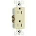 Pass & Seymour 885-I Sierraplex® tradeMaster® Decorator Duplex Receptacle; Wall Mount, 125 Volt, 15 Amp, 2-Pole, 3-Wire, NEMA 5-15R, Ivory