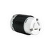 Pass & Seymour 7313-SS Turnlok® Locking Connector; 20 Amp, 125/250 Volt AC, 2-Pole, 4-Wire, Black/White