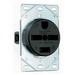 Pass & Seymour 5740 Single Straight Blade Power Receptacle; Flush Mount, 250 Volt, 30 Amp, 3-Pole, 4-Wire, NEMA 15-30R, Black