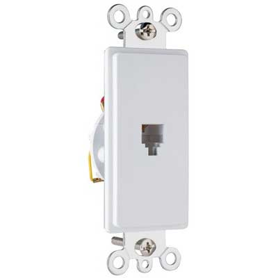 On-Q 26TE14-W Standard Size Decorator 1-Gang Wallplate; Wall Mount, Thermoplastic, White