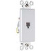 On-Q 26TE14-W Standard Size Decorator 1-Gang Wallplate; Wall Mount, Thermoplastic, White