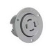 Pass & Seymour L1420-FO Turnlok® Flanged Outlet; 20 Amp, 125/250 Volt AC, 4-Wire, NEMA L14-20R, Gray