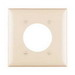 Pass & Seymour TP703-I tradeMaster® Standard Size 2-Gang Single Receptacle Plate; Wall Mount, Nylon, Ivory