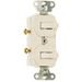 Pass & Seymour 696-W 3-Way Combination Switch; 120/277 Volt AC, 15 Amp, 1-Pole, Non-Grounding, White
