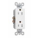 Pass & Seymour 885-W Sierraplex® tradeMaster® Decorator Duplex Receptacle; Wall Mount, 125 Volt, 15 Amp, 2-Pole, 3-Wire, NEMA 5-15R, White