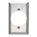Pass & Seymour SS723 Standard Size 1-Gang Single Receptacle Plate; Wall Mount, 302 Stainless Steel