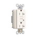 Pass & Seymour 2095TRSLA Specification Grade Tamper-Resistant GFCI Outlet Receptacle; Wallplate Mount, 125 Volt AC, 20 Amp, 2-Pole, NEMA 5-20R, Light Almond