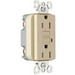Pass & Seymour 1595-TRI tradeMaster® Tamper-Resistant Decorator Specification Grade Duplex GFCI Receptacle; 125 Volt AC, 15 Amp, 2-Pole, NEMA 5-15R, Ivory